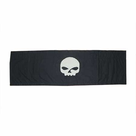 "Motor Cycle skull Curtain Valance 54""W x 16""L"