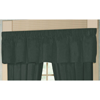 "Hunter Green Chambray Curtain Valance 54""W x 16""L"