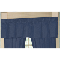 "Dark Spruce Blue Chambray Curtain Valance 54""W x 16""L"