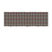 "Brown and Green Plaid Curtain Valance 54""W x 16""L"