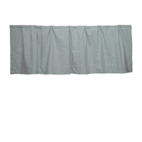"Light Green Hairline Stripe Curtain Valance 54""W x 16""L"