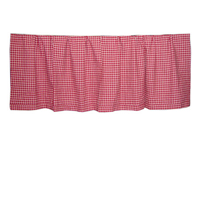 "Homespun Red Check Curtain Valance 54""W x 16""L"