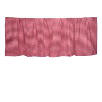 "Homespun Red Check Curtain Valance 54""W x 16""L"