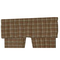 """Dark and Light Brown Plaid Curtain Valance 54""""W x 16""""L"""