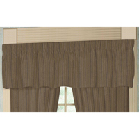 "Olive Green Woven Fabric Curtain Valance 54""W x 16""L"