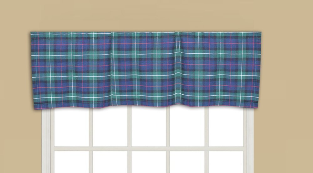 "Tartan Plaid,fabric curtain val 54""w x 16""l"