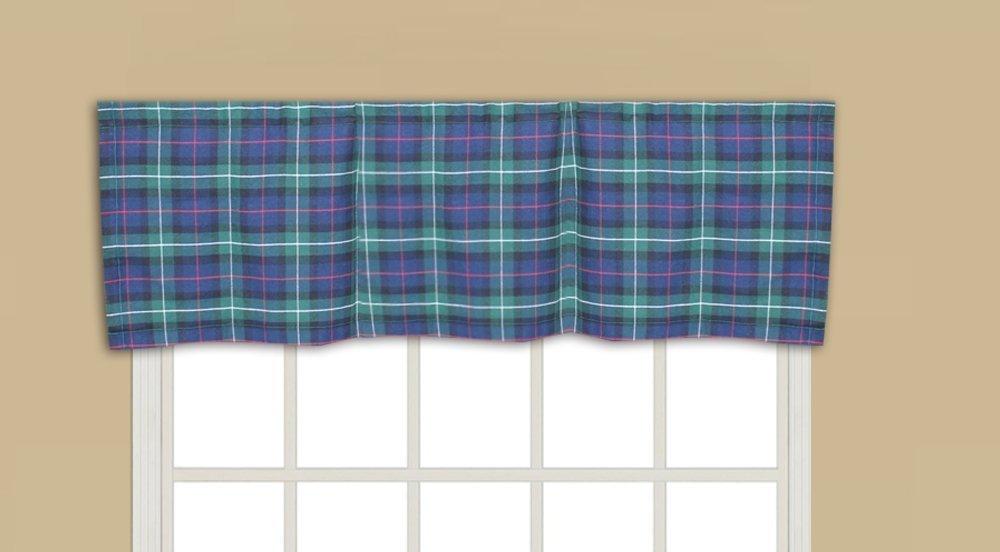 """Tartan Plaid,fabric curtain val 54""""w x 16""""l"""