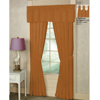 "Golden Rod Plaid Window Curtain 40""W x 84""L"