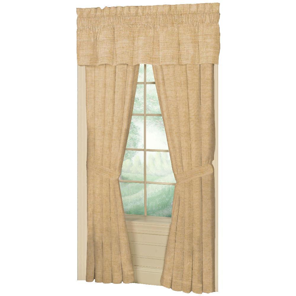 "Gold Chambray Window Curtain 40""W x 84""L"