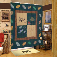 "Cabin,cz Shower Curtain 72""W x 72""L"