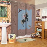 """Cowboy shower cz curtain 72""""w x 72""""l"""