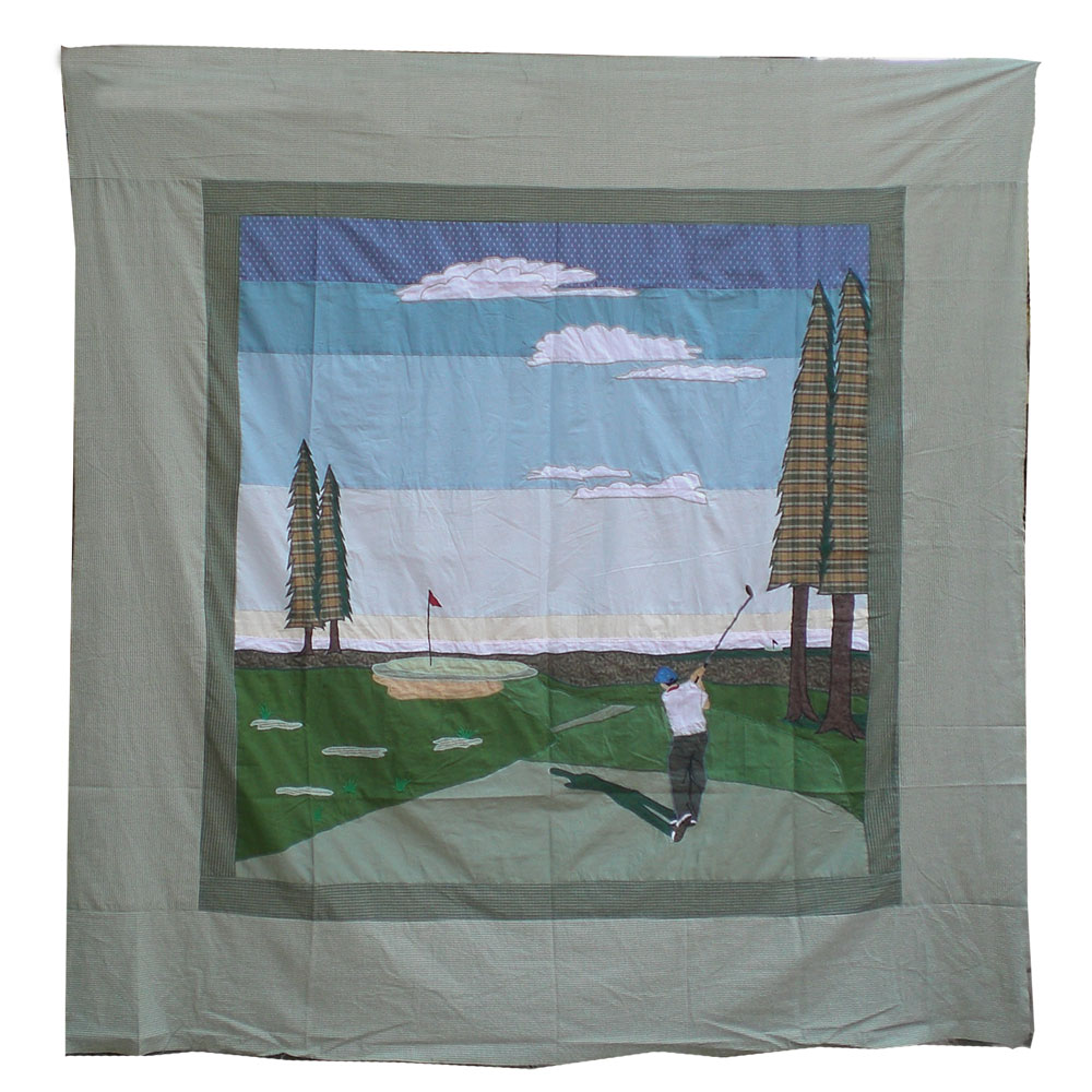 "Golf a Gift Shower Curtain 72""W x 72""L"