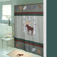"""Moose,Cool Shower Curtain 72""""w x 72""""l"""