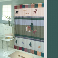"Northwoods Walk Shower Curtain 72""W x 72""L"
