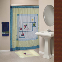 "Summer Fun,cz Shower Curtain 72""W x 72""L"