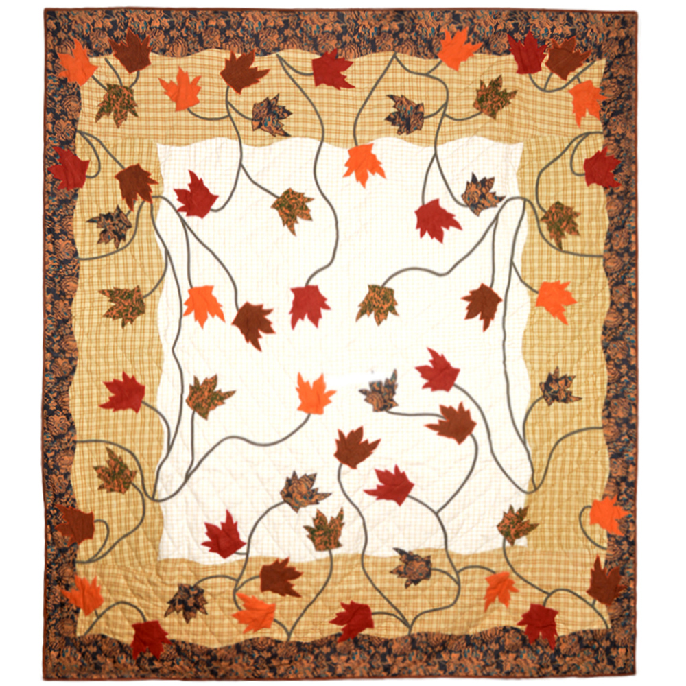 "Autumn Leaves King Duvet Cover 108""W x 98""L"
