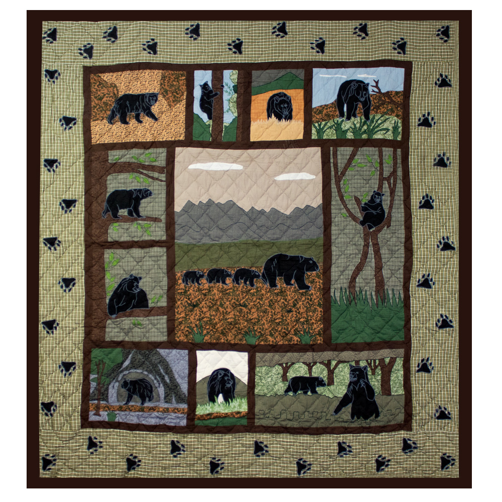 "Bear Country King Duvet Cover 108""W x 98""L"
