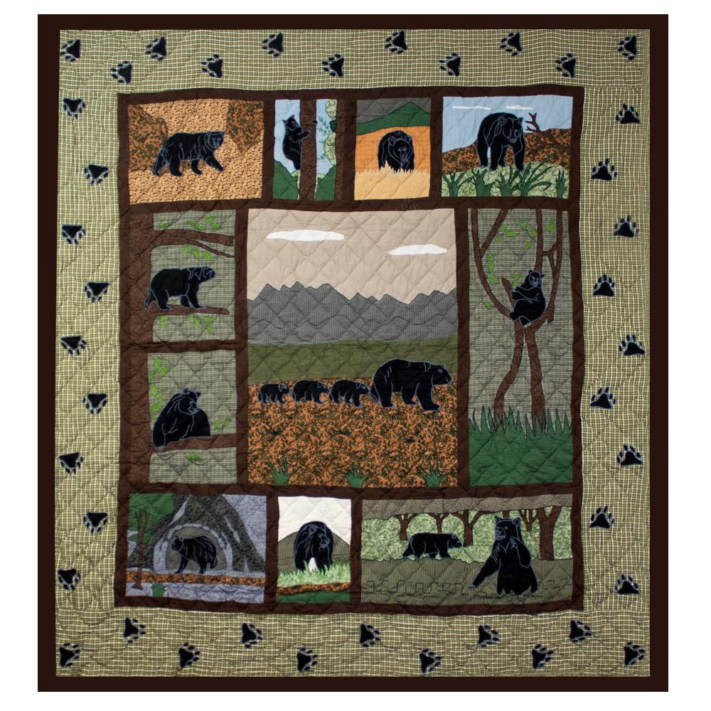 "Bear Country Queen Duvet Cover 88""W x 98""L"