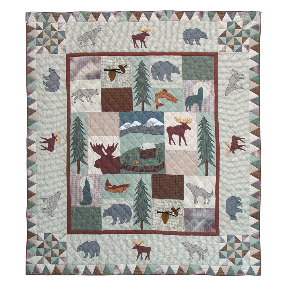 """Mountain Whispers Queen Duvet Cover 88""""W x 98""""L"""