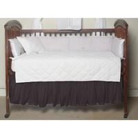 "Black Solid (s099b) Crib Bed Skirt 28"" x 53""-Drop-13"""