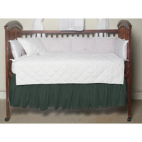 "Hunter Green Chambray (w108b) Crib Bed Skirt 28"" x 53""-Drop-13"""