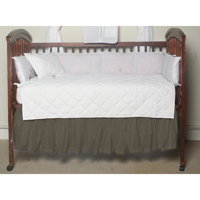 "Sage Green Chambray Crib Bed Skirt 28"" x 53""-Drop-13"""