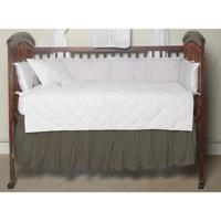 """Sage Green Chambray Crib Bed Skirt 28"""" x 53""""-Drop-13"""""""