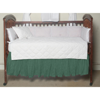 "Green Check Plaid With White (w139a) Crib Bed Skirt 28"" x 53""-Drop-13"""