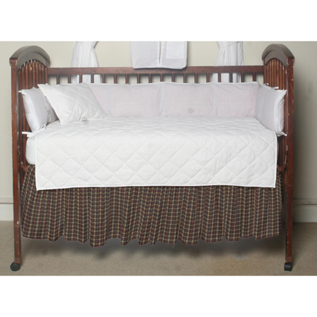 Cream Tartan Plaid,fabric dust ruffle crib
