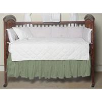 "Mint Green Gingham (w308s) Crib Bed Skirt 28"" x 53""-Drop-13"""