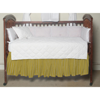 "Corn Yellow Gingham (w319a) Crib Bed Skirt 28"" x 53""-Drop-13"""