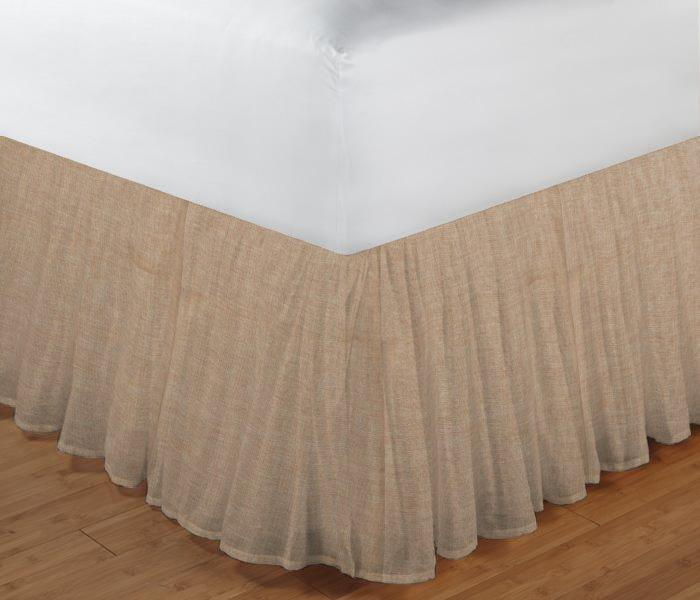 """Gold Chambray Bed Skirt Twin Size 39""""W x 76""""L-Drop-18"""""""