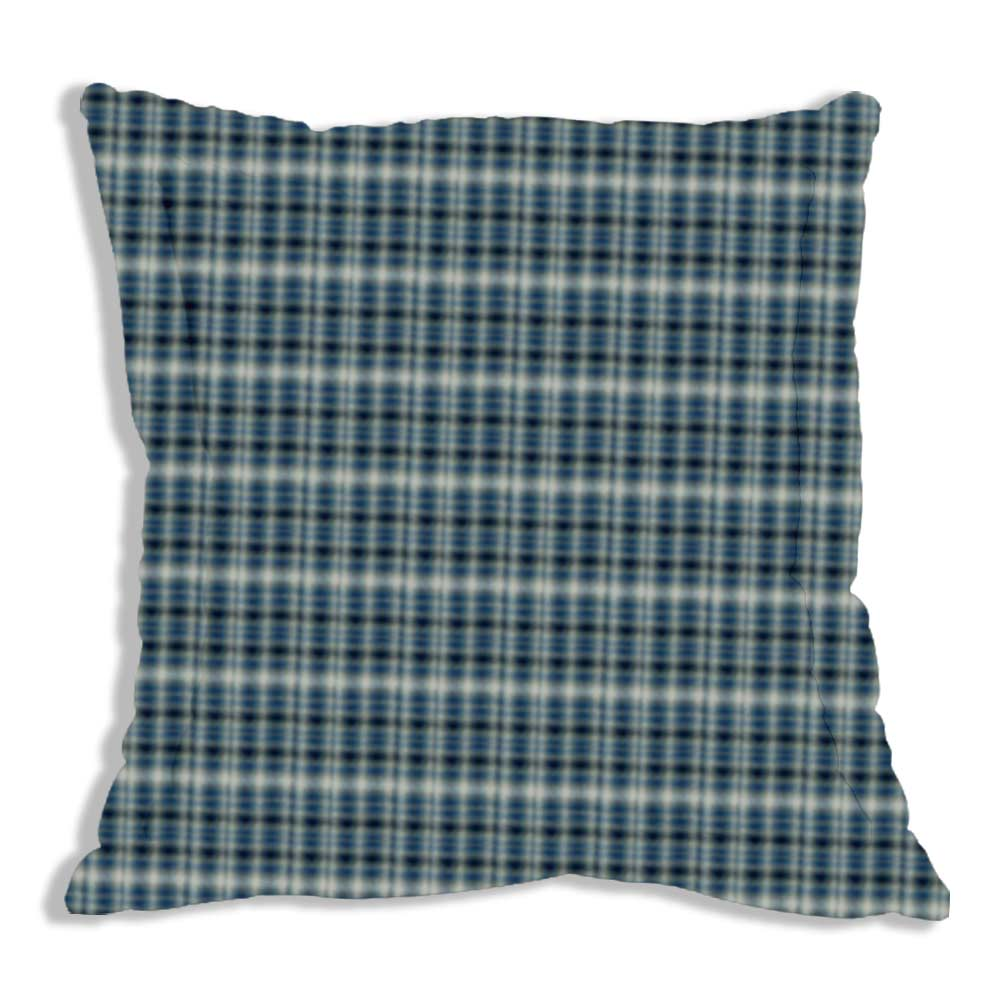 "Blue Black Grey Plaid Euro Sham 26""W x 26""L Regular"