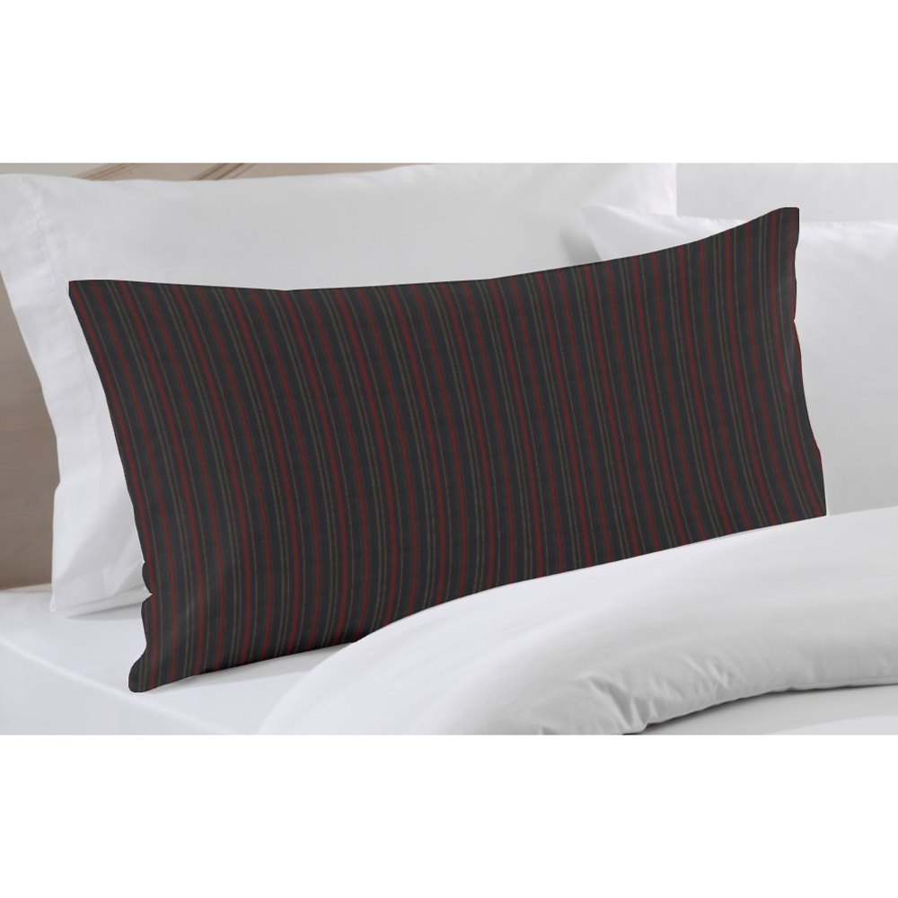 "Black and Maroon Stripe Euro Sham 26""W x 26""L Regular"