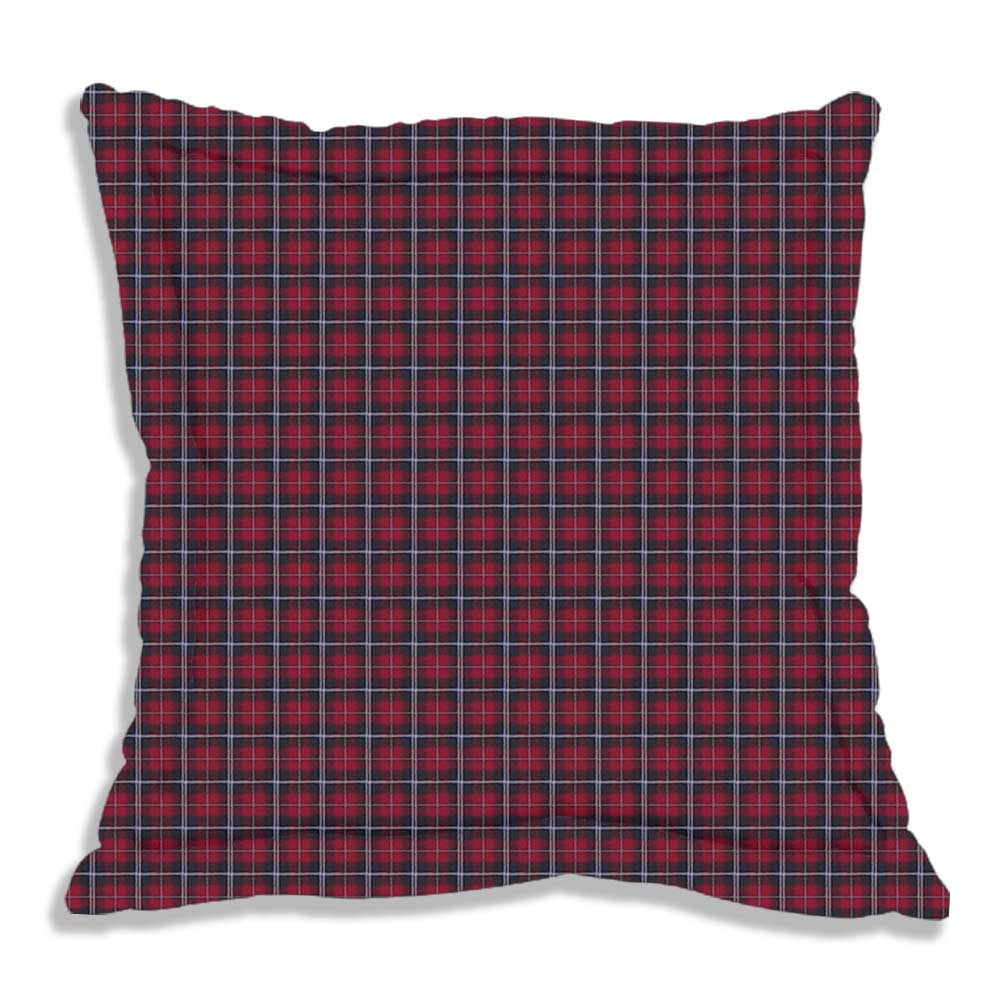 "Red and Black Plaid Euro Sham 26""W x 26""L Regular"