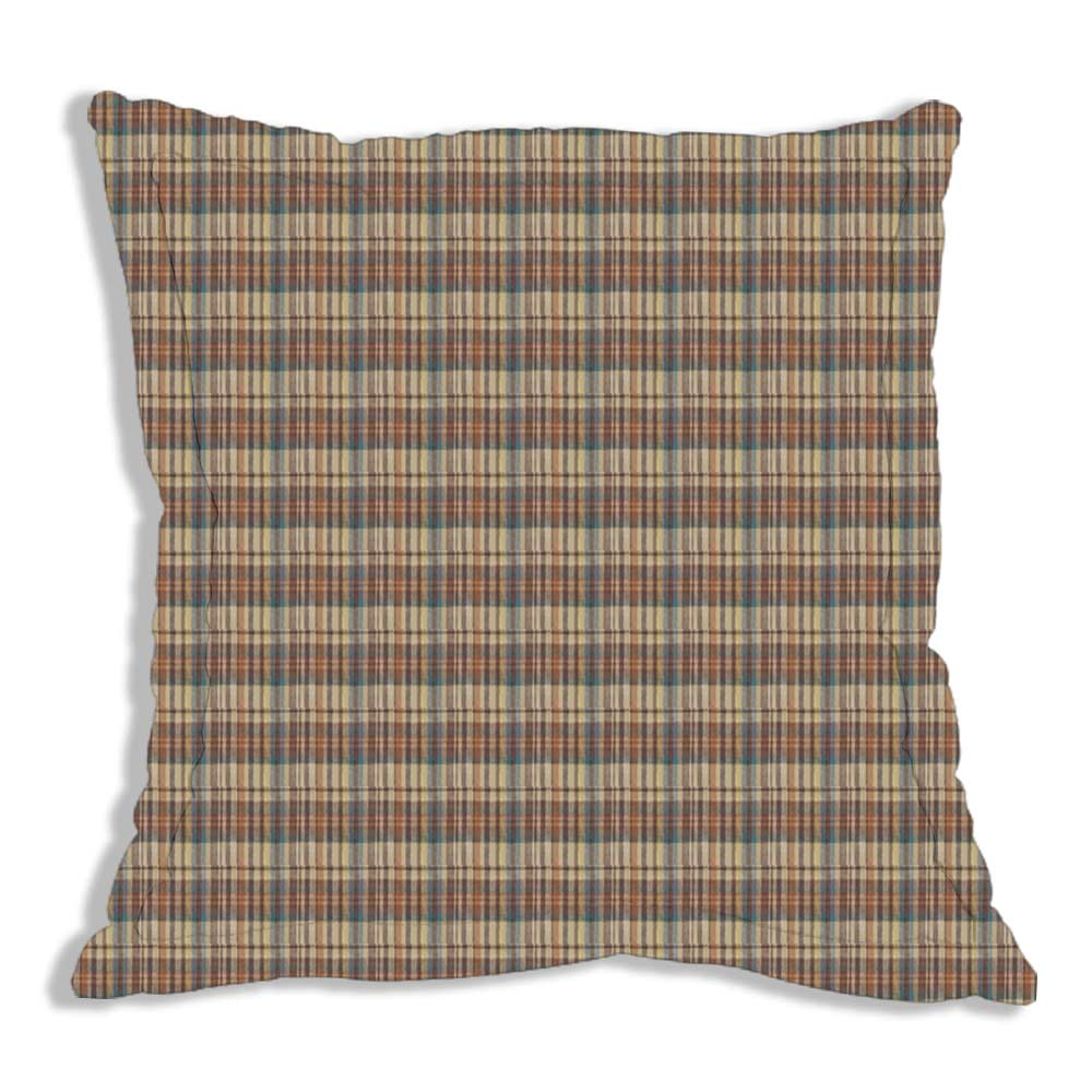 "Green and Warm Brown Plaid 26""w x 26""l regular"