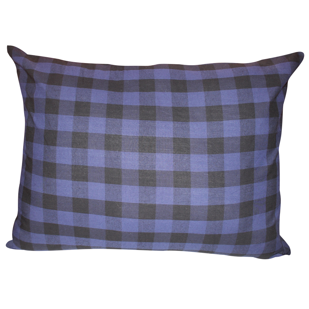 "Blue and Black Twill Buffalo Check,Fabric Euro Shams 26""W x 26""L Regular"