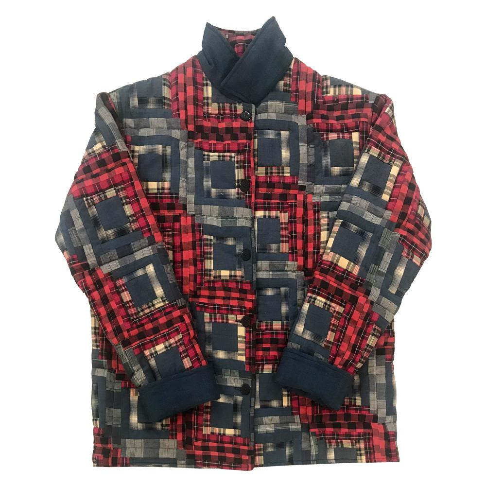 Red Log Cabin Plus Size Jacket- 3X
