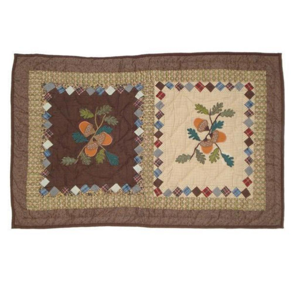 "Acres of Acorns king sham 31""w x 21""l"