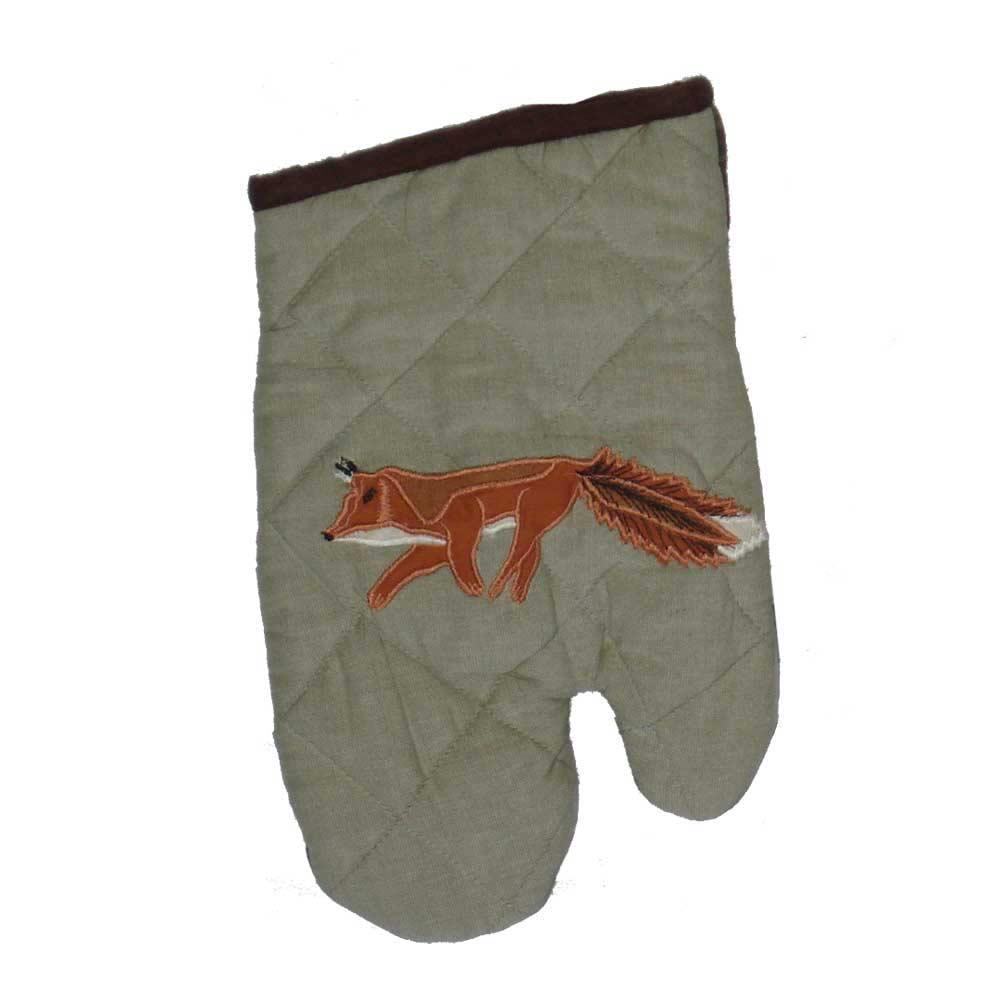 "Fox Hunt Oven Mitt 7""W x 12""L"