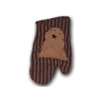 "Golden Friends Oven Mitt 7""W x 12""L"