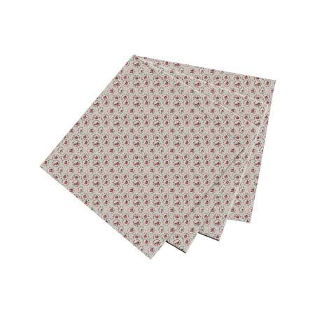 """Roses Print on Beige Fabric Napkin 20""""W x 20""""L"""