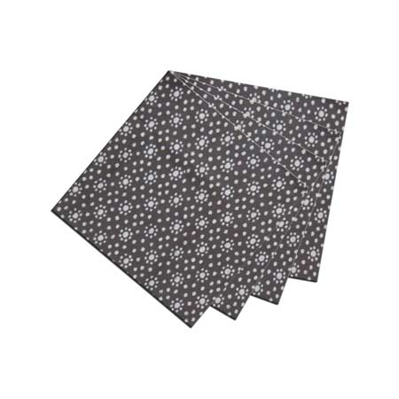 "Stars Print on Black Fabric Napkin 20""W x 20""L"