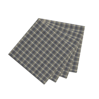 """Blue Black Grey Plaid Fabric Napkin 20""""W x 20""""L"""