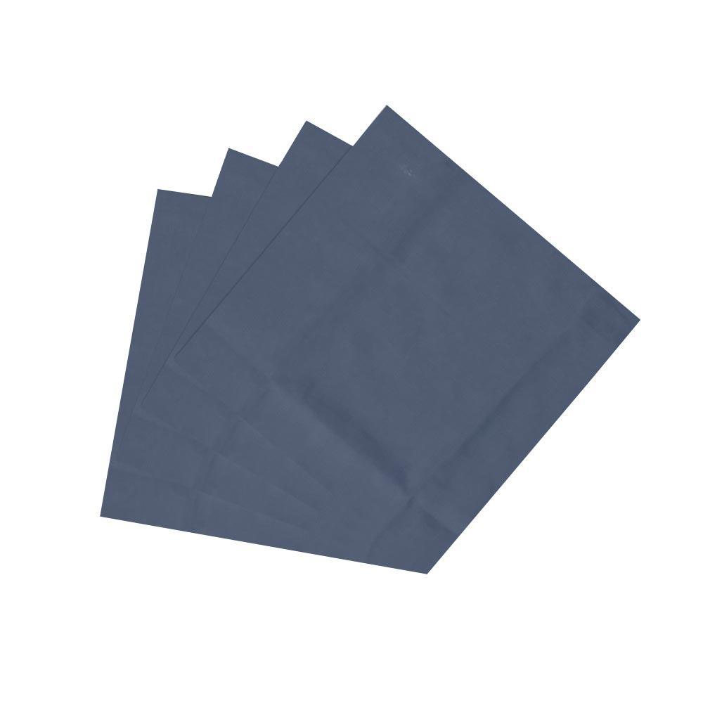 "Dark Spruce Blue Chambray Fabric Napkin 20""W x 20""L"