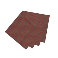 "Red Check Plaid Fabric Napkin 20""W x 20""L"