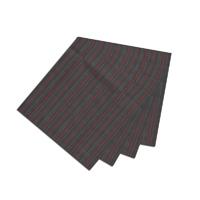 """Black and Maroon Stripe Fabric Napkin 20""""W x 20""""L"""