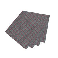 """Burgundy Plaid Fabric Napkin 20""""W x 20""""L"""