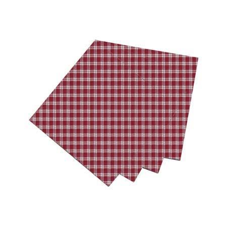 "Homespun Red Check Fabric Napkin 20""W x 20""L"