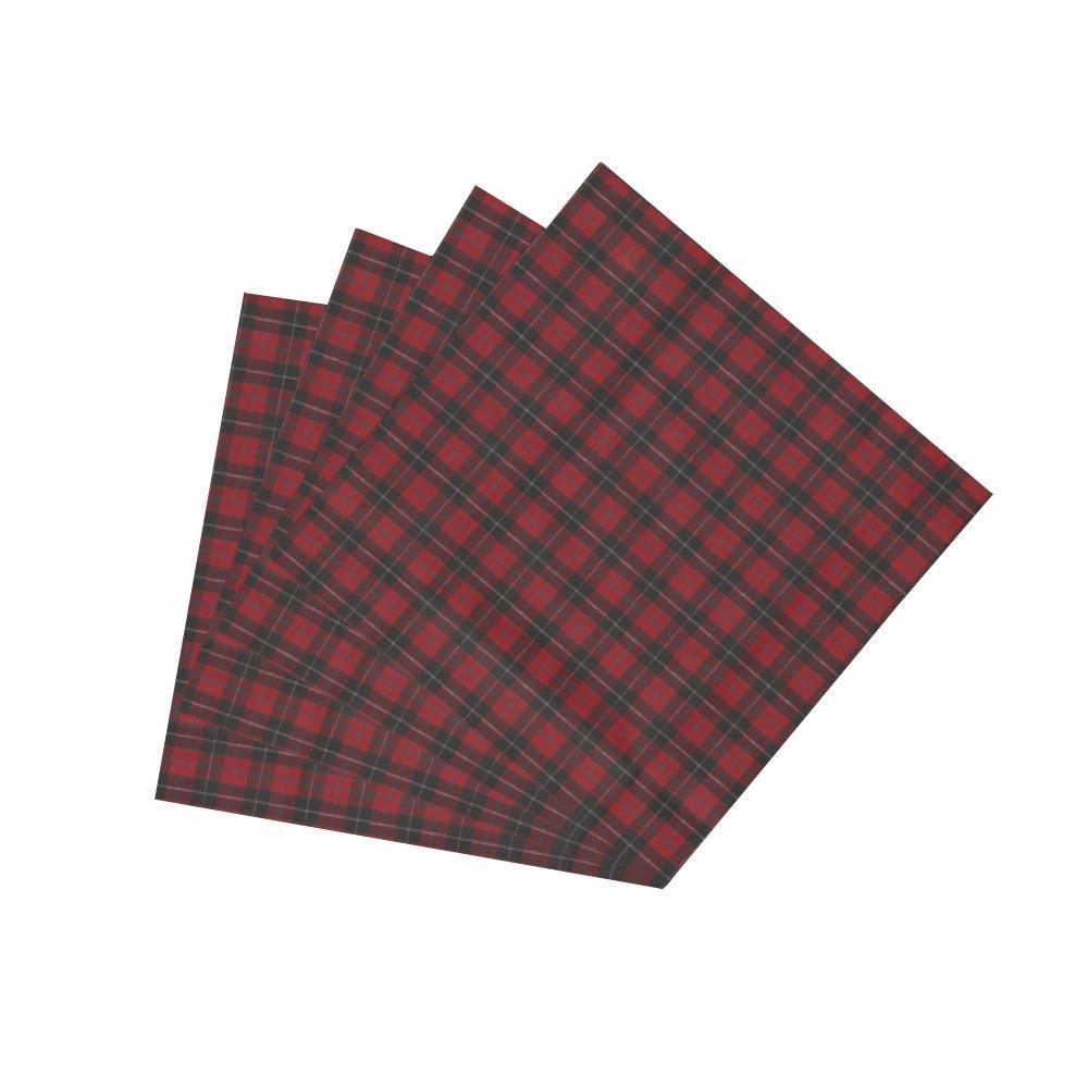 "Red and Black Plaid Fabric Napkin 20""W x 20""L"